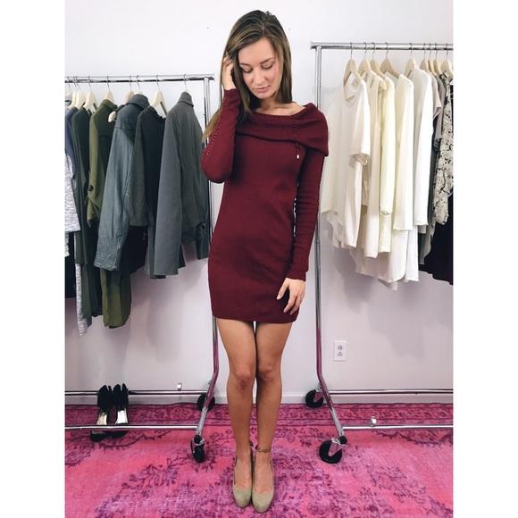b4188c56dac White House Black Market Sweater Dress XS Red Mini.  M 5a5d2ced50687cc5f8ee46e5